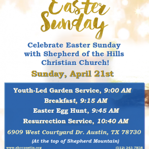 Easter Sunday at SHCC