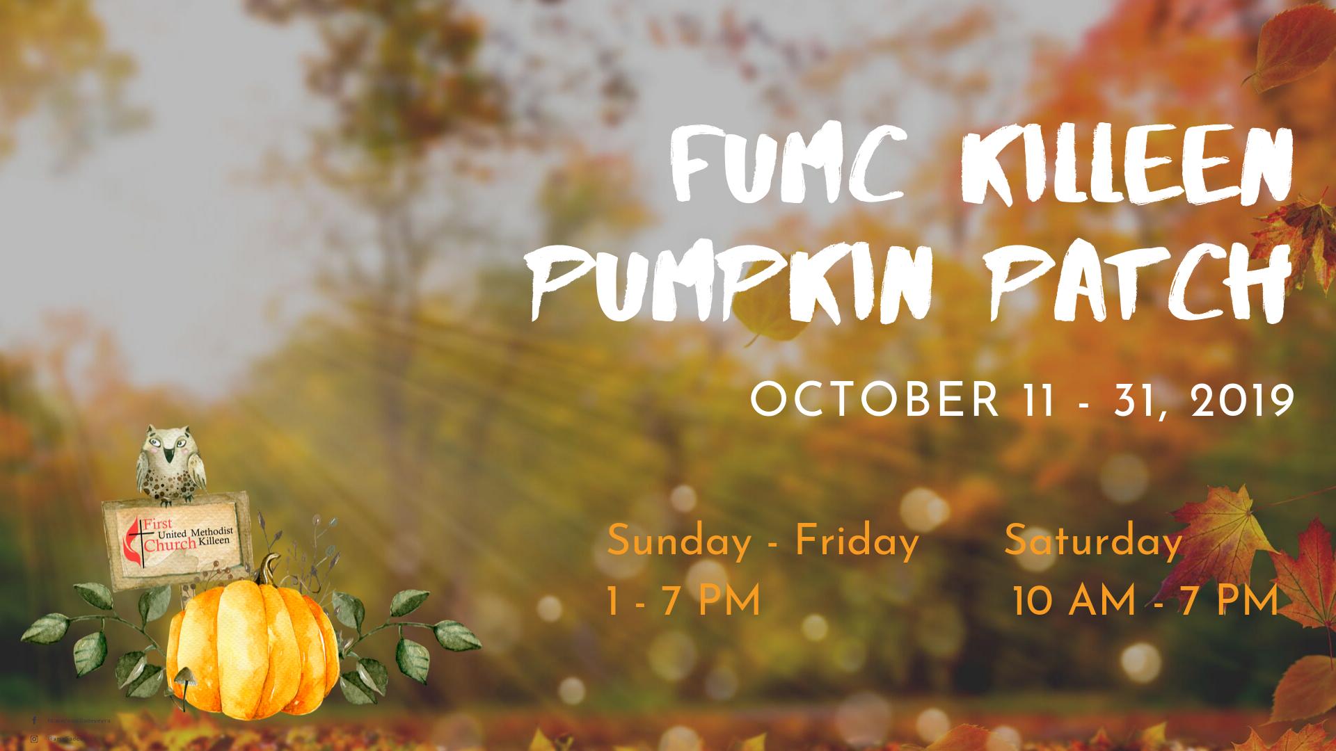 FUMC Killeen Pumpkin Patch