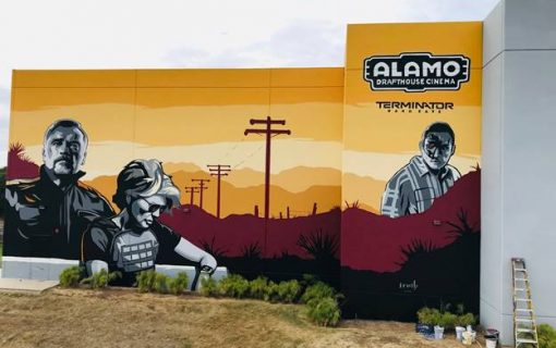 Austin Artist's Terminator Mural Catches Attention of Arnold Schwarzenegger