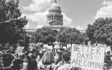 Thousands Gather For Peaceful Protest Rally and March at Huston-Tillotson University in Austin