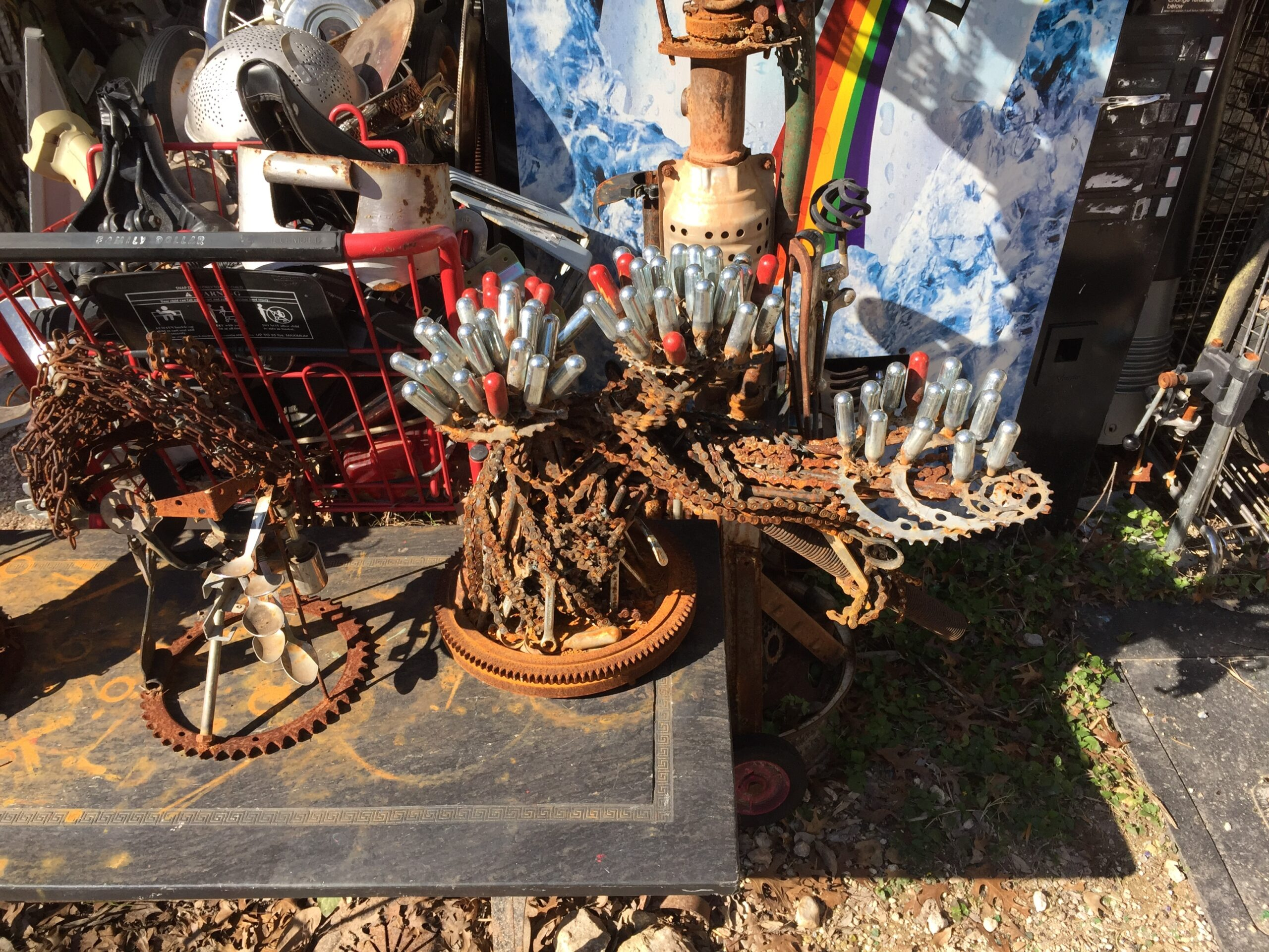 Cathedral of Junk - Metal sculptures that look like cacti