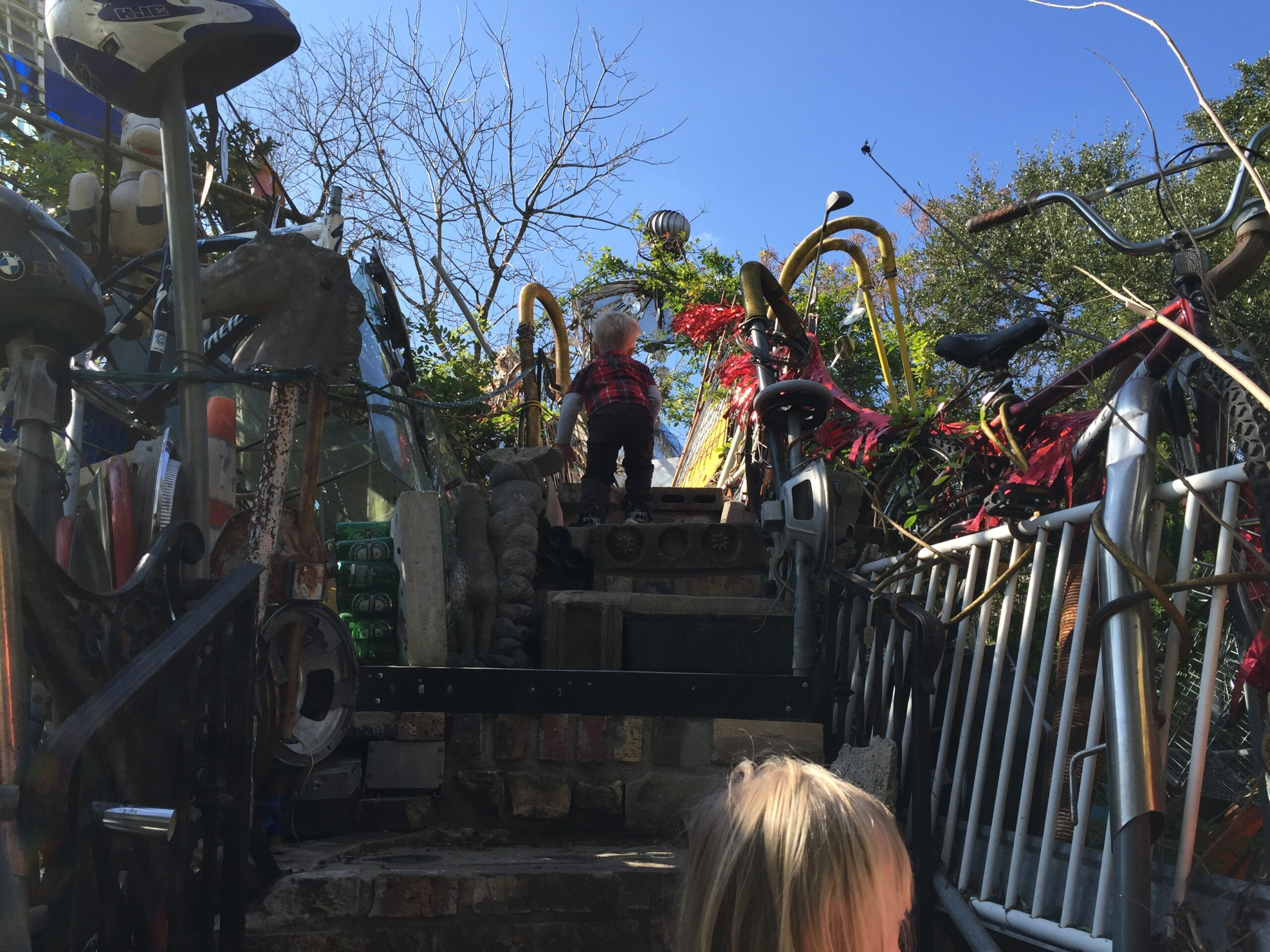Cathedral of Junk - Heading up to the third-story level