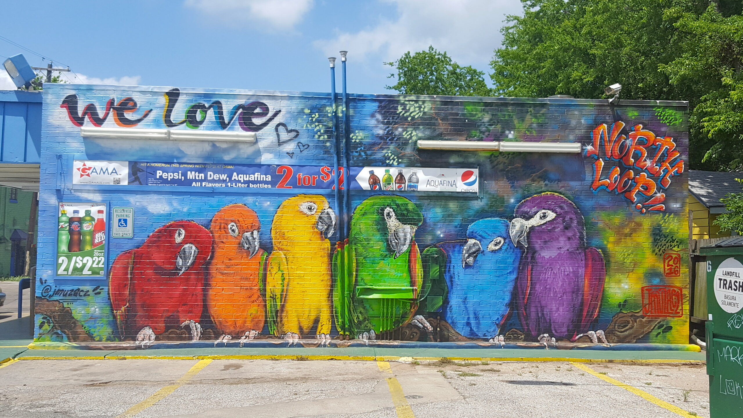 North Loop Birds Mural
