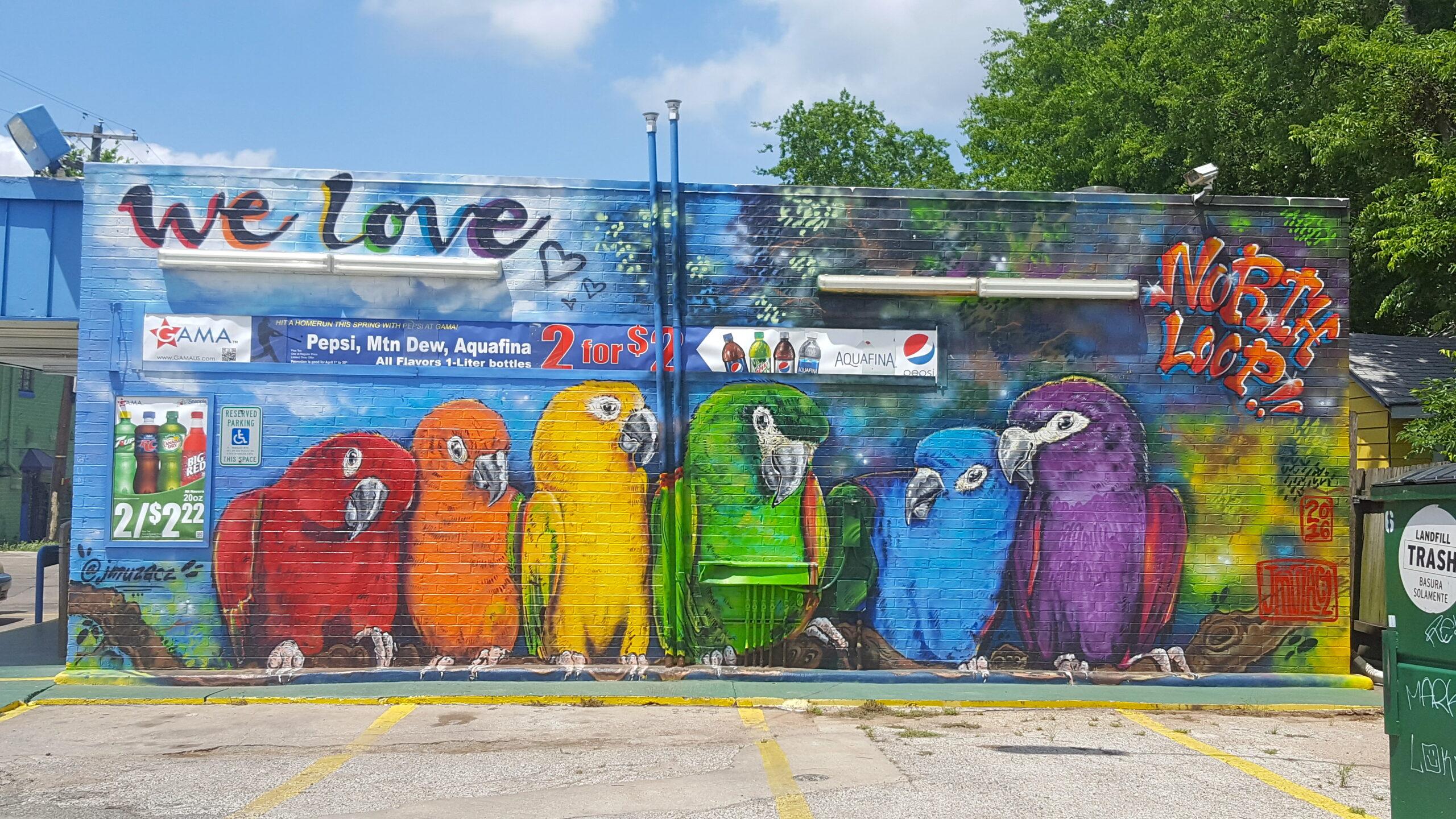 North Loop Birds Mural