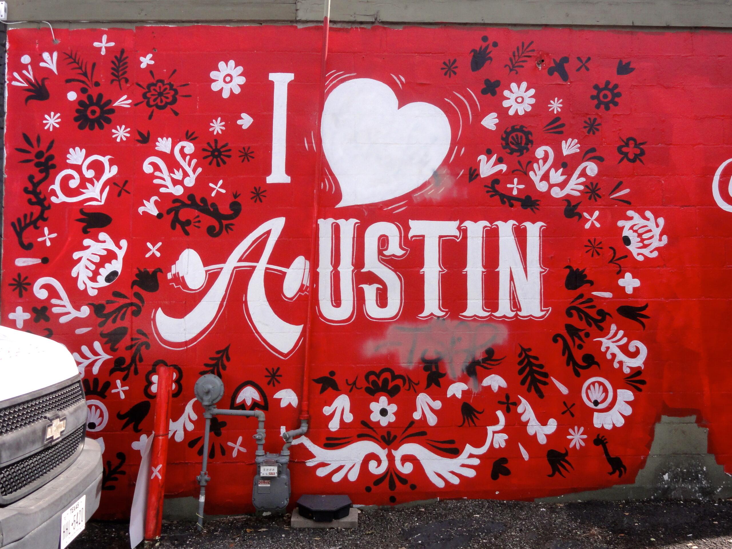 I Heart Austin Mural