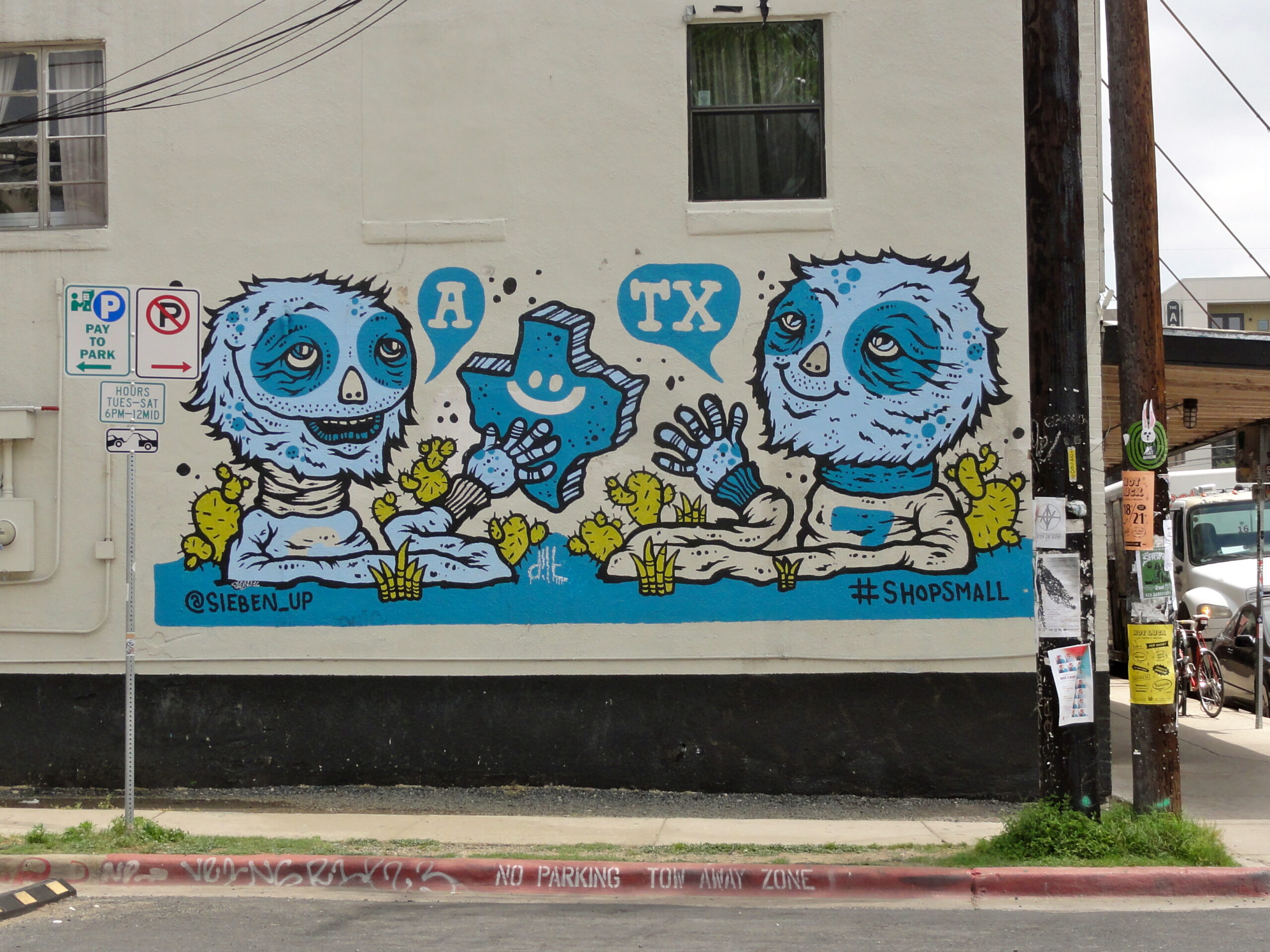 Blue Monsters Mural