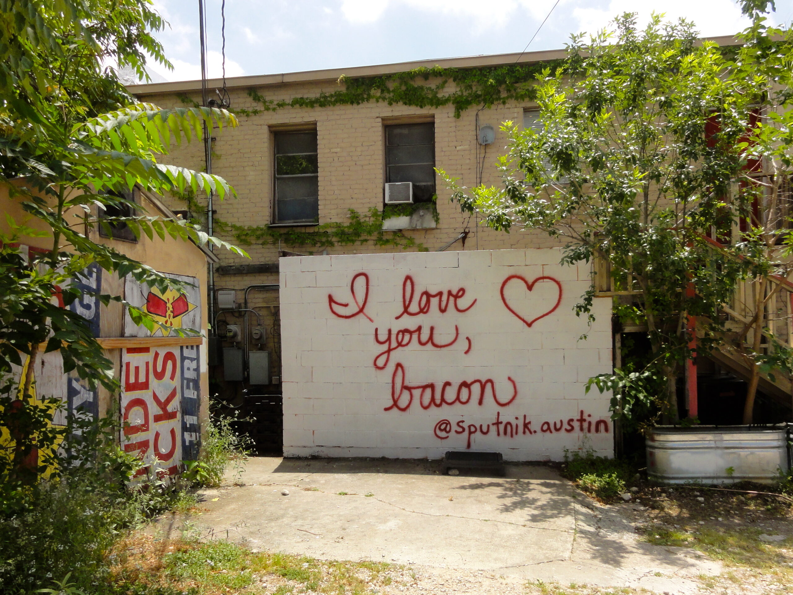 I Love You, Bacon Mural