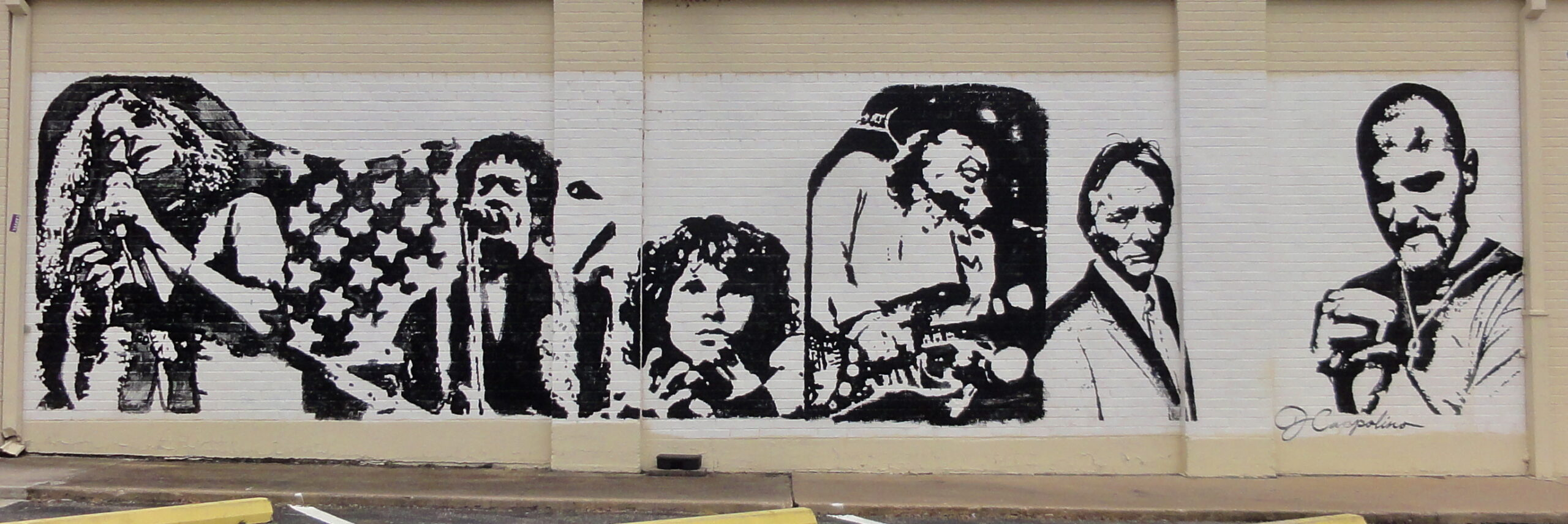 B&W Musicians Mural