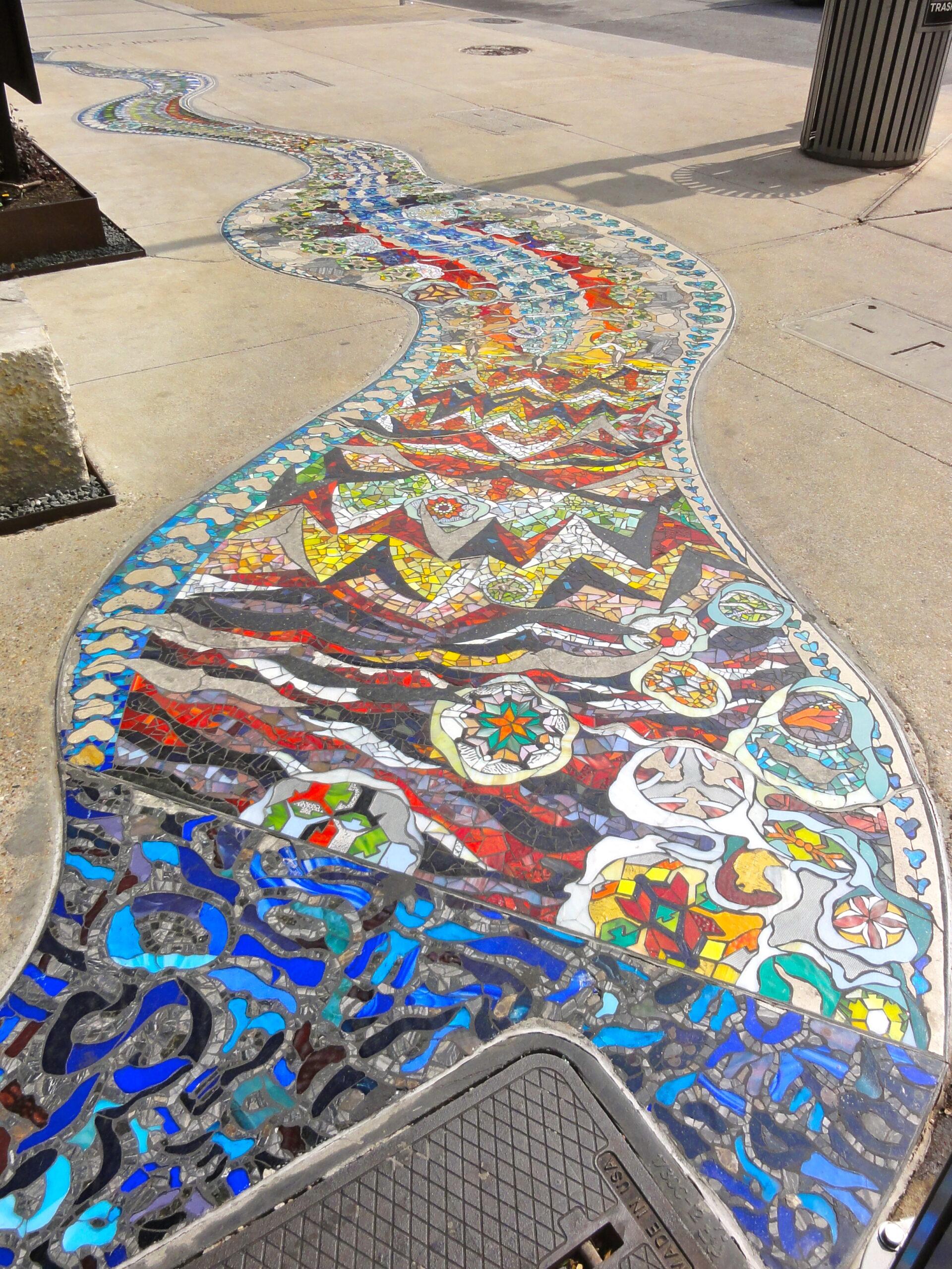 Brazos Sidewalk Mosaic