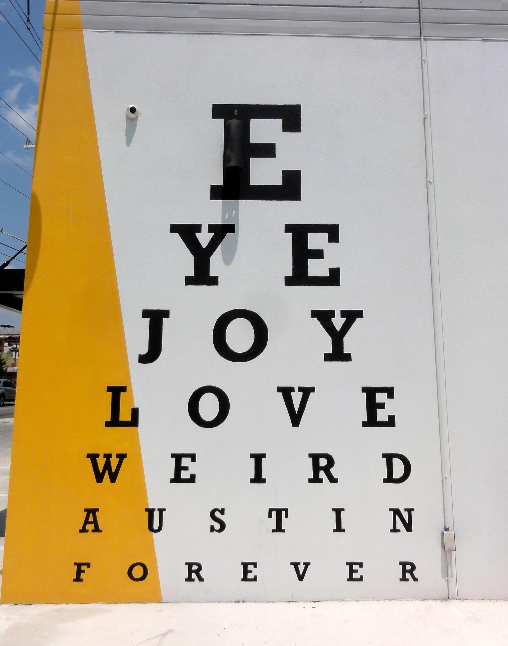 Eye Chart Mural