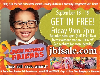 Just Between Friends Austin Coupon