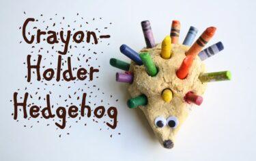 Free Fun at Home: Crayon Stub Hedgehog