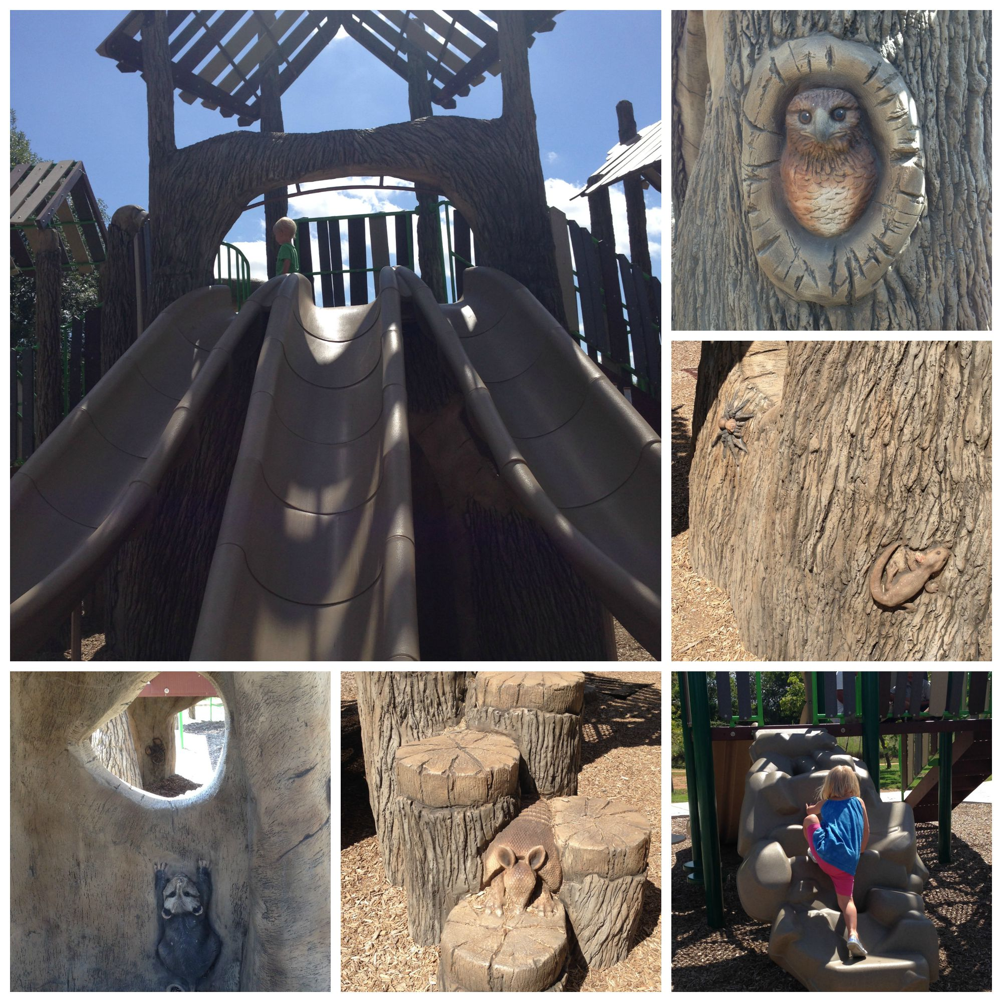 Treehouse playscape with animals to discover!