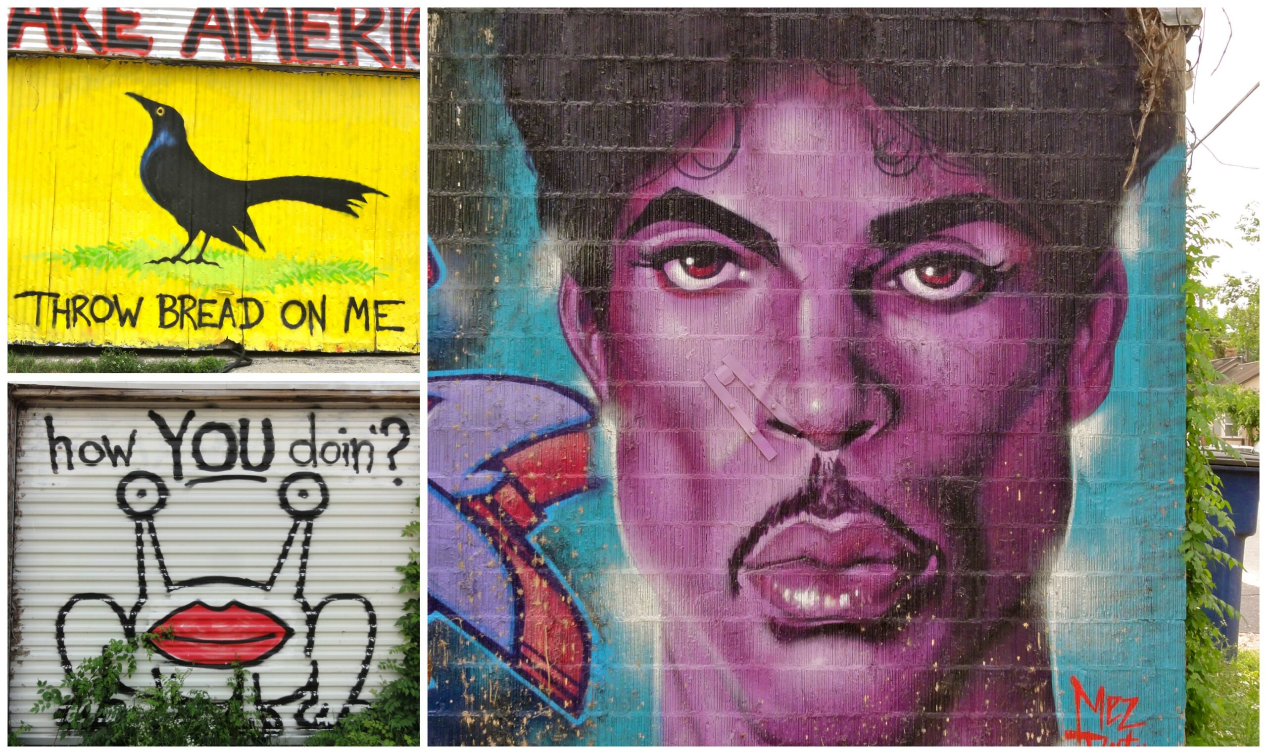 Prince and How You Doin Murals