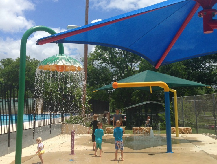 Rosewood Park Splash Pad in Austin, Texas