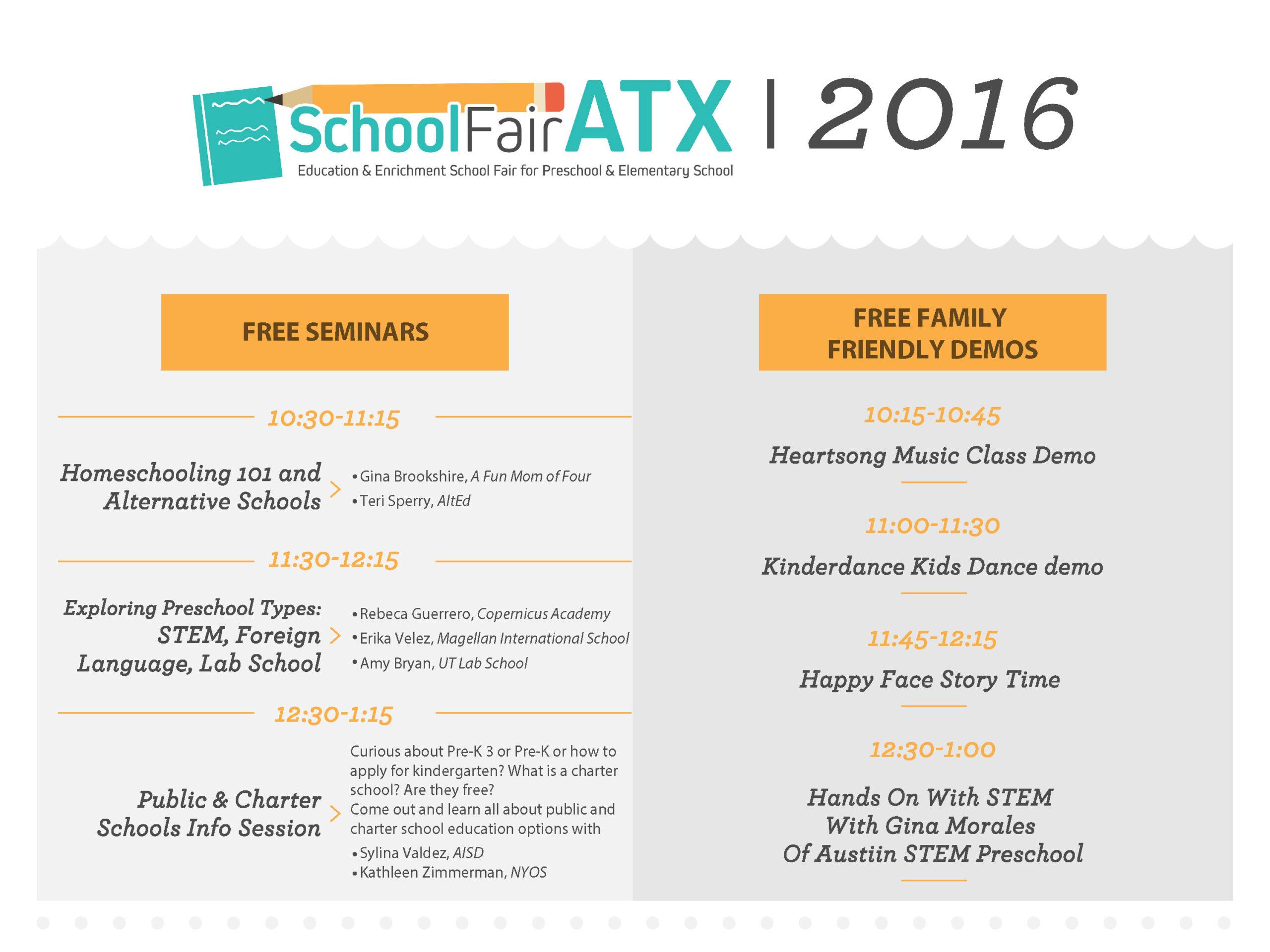 SchoolFair ATX schedule - Free Fun in Austin