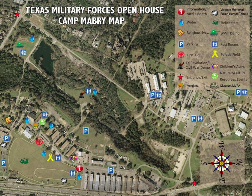 Camp Mabry map