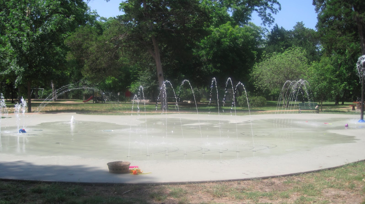 Eastwoods Park Splash Pad in Austin, Texas