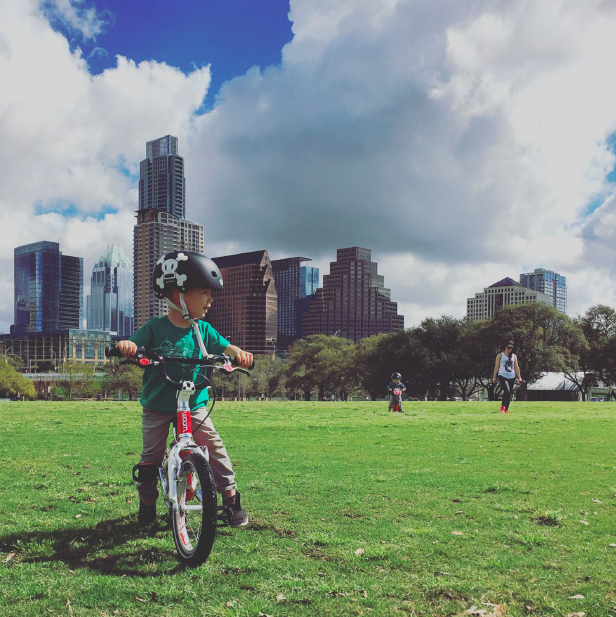 Where to bike ride with kids in Austin