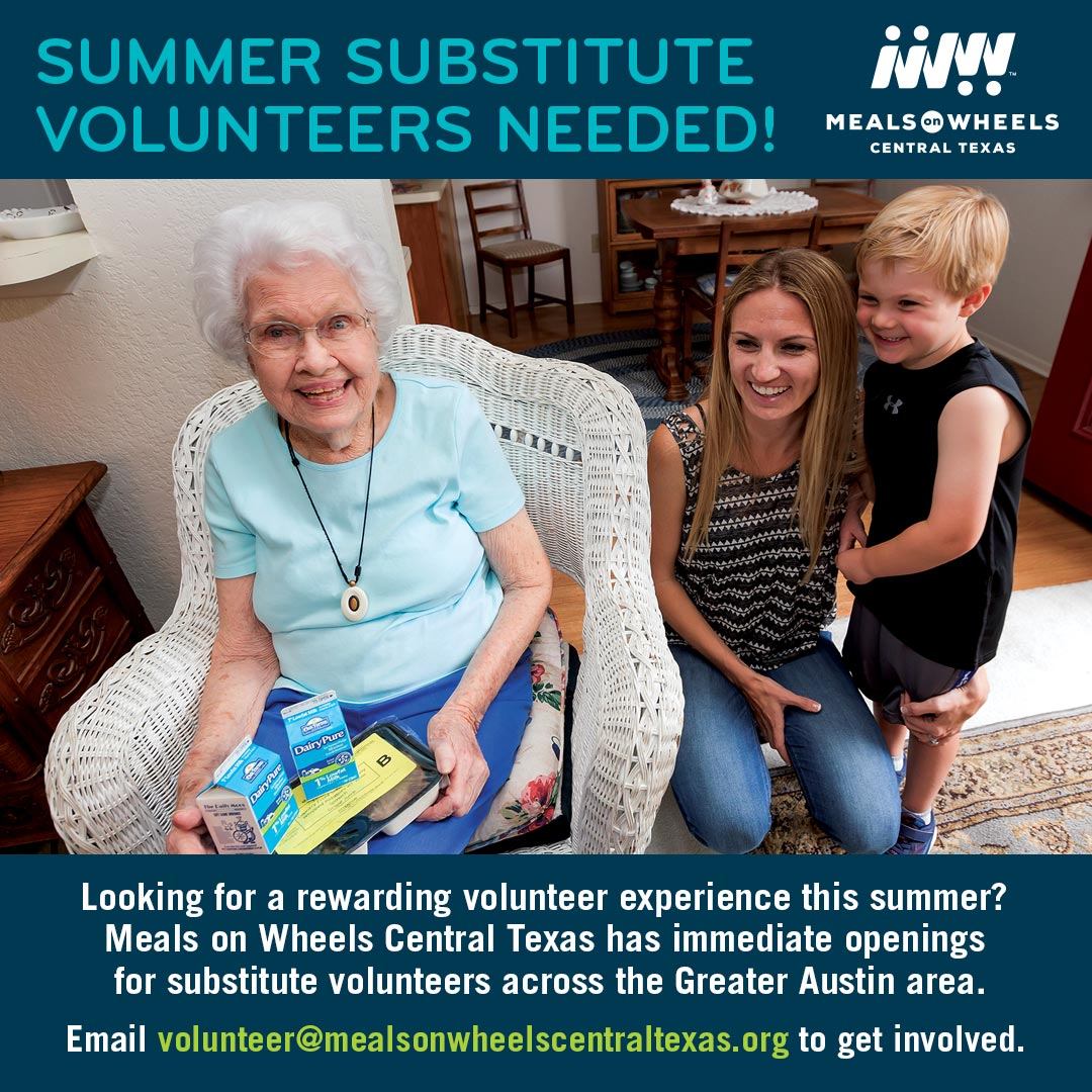 Meals on Wheels Summer Substitutes