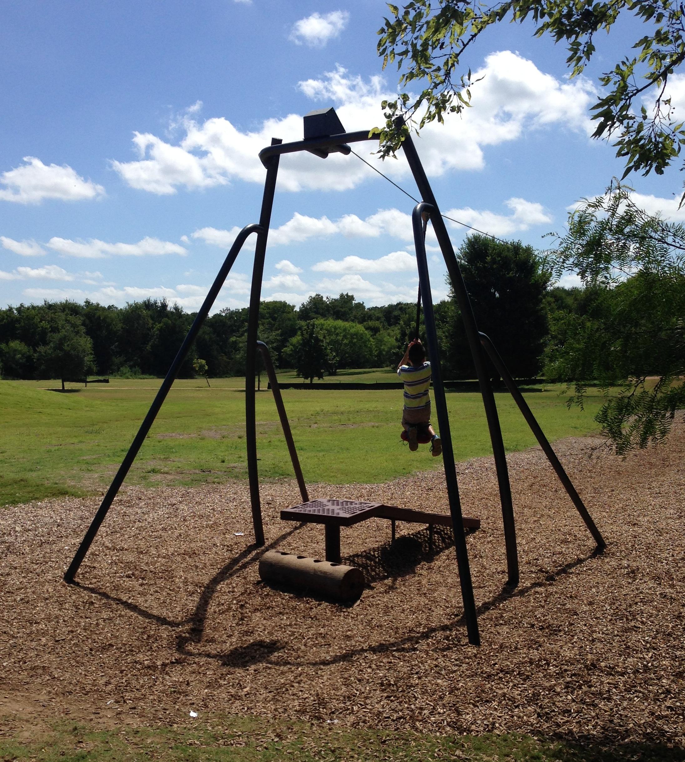 Dove Springs Playground Austin Texas Zip Line