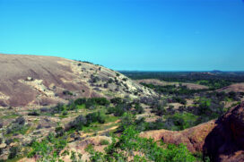 Enchanted Rock with the Texas Hill Country outside Fredericksburg