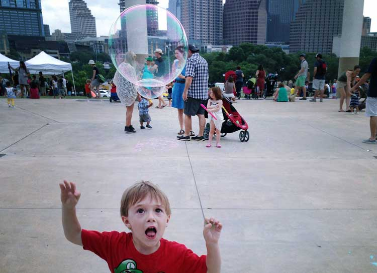 Things to do with Preschoolers in Austin - Bubblepalooza